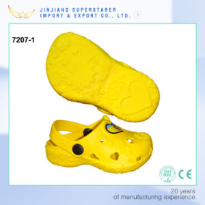 Yellow Color EVA Kids Clogs, Summer Sandal Shoes Made in China pictures & photos
