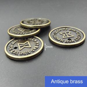 Fancy Custom Design Metal Jeans Label pictures & photos
