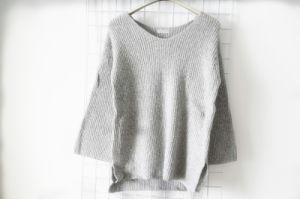 V Neck Long Sleeve Velvet Sweater for Women pictures & photos