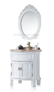 Solid Wood Bathroom Furniture Cabinet Sw-63020 pictures & photos