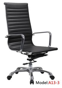 Office Leather Chrome Iron Hotel High Back Executive Chair (A13-3) pictures & photos