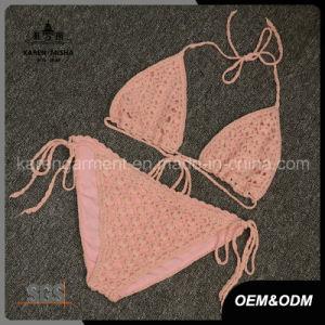 Adustable Halter Women Handmade Crochet Bikini Lingerie pictures & photos