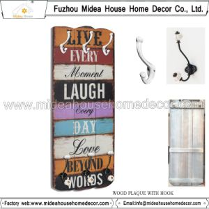 Europe Style Wood Shelf Coat Hook pictures & photos