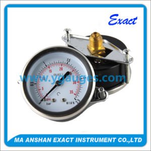 Black Steel Case Pressure Gauge with Clamp - Instrumentation Control pictures & photos