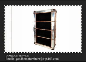 Living Room Furniture Movable Wooden Frame Aluminum Bookshelf pictures & photos