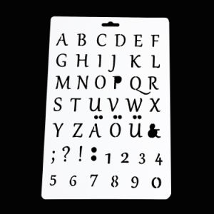 Alphabet Letters Craft Stencil for Scrapbooking pictures & photos
