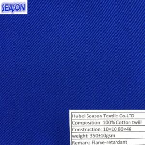Cotton 10*10 72*44 310GSM En11611 En11612 Standard Flame-Retardant Fabric for Protective Clothes pictures & photos