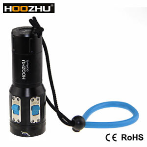 Hoozhu V13 Max 2600 Lm Waterproof 120m Dive Torches with Five Color Light for Video