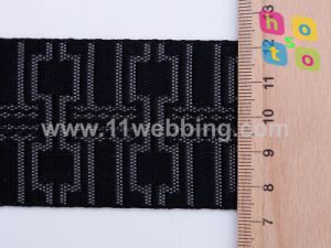 Hot Belt Black and Red Lattice Nylon Polyester Jacquard Bag Strap Webbing pictures & photos