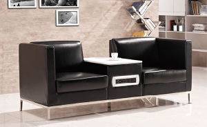 Modern Europe Design Steel Metal Leather Waiting Office Sofa (NS-S301) pictures & photos