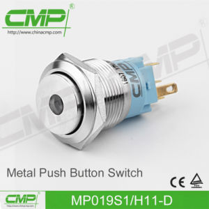 19mm Illuminated in Stainless Steel LED Power Push Button pictures & photos
