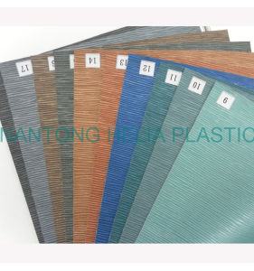 PVC Printed Artificial Leather for Upholstery, Decoration (HL005-17) pictures & photos