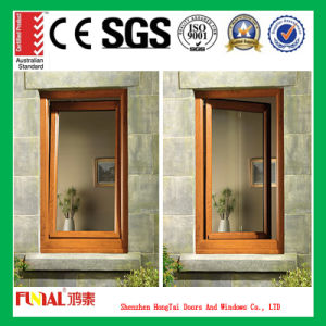 Wood Grain Aluminum Tilt and Turn Window pictures & photos