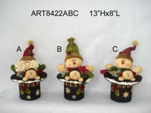 Christmas Decoration Santa Snowman Christmas Stockings, 3asst- pictures & photos