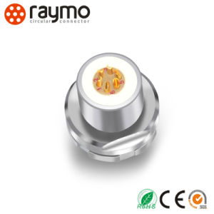 Raymo 1f Series Rear-Mounted Receptacle Waterproof IP68 Circular Cable Connector pictures & photos