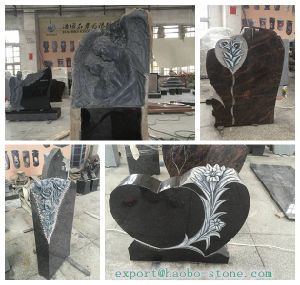 Black Granite New Headstone Model for Sale pictures & photos