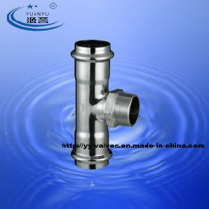 Stainless Steel Pipe Fittings Press Male Tee pictures & photos