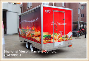 Ys-Fv390h 3.9m 3 Windows Sandwich Panel Catering Trailers Tuk Tuk for Sale pictures & photos