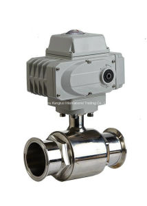 Electric Actuator Sanitary Clamp Ball Valve pictures & photos