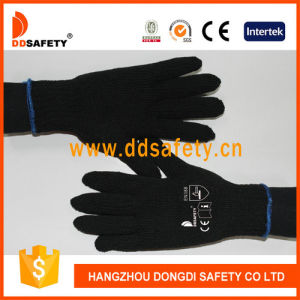 Ddsafety 2017 4 Yarns Black Cotton or Polyester Gloves 7gauge pictures & photos