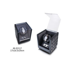 PU Leather Show Box Case Wooden Box Automatic Watch Winder pictures & photos