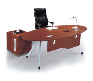Round Steel Metal Base Wooden Executive Office Table (HX-NCD015) pictures & photos