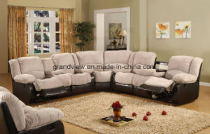 Living Room Furniture Reclining Leather Corner Sofa Seating Unit with Cup Holders, Multiple Colors pictures & photos