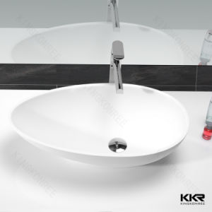 China Solid Surface Above Counter Round Washing Basin for Hotel Project pictures & photos