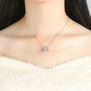 New Design White Gold Shinning Clear for Wowen CZ Flowers Pendant Necklace pictures & photos