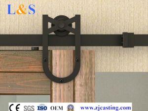 High Quality Sliding Barn Door Hardware Flat Track Sliding Door System pictures & photos