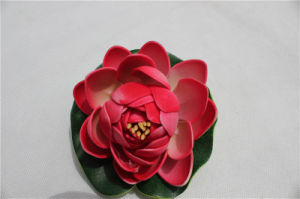 Artificial Red Flower Lotus for Decoration pictures & photos