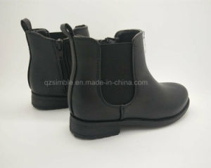 Family Fitted Kids Children Safety Working Work Boots Shoes for Outdoor (17135 BLACK) pictures & photos