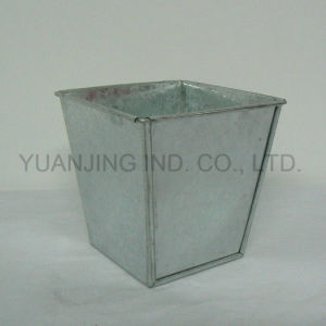 Metal Square Galvanized Bucket Gardening Pot for Garden and Home pictures & photos