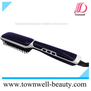 Hair Straightener Brush with Ion Generator pictures & photos