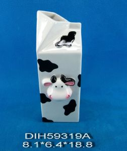 Hand-Painted Ceramic Cow Flower Vase pictures & photos