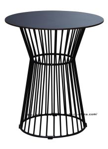 Morden Industrial Dining Metal Wire Steel Top Table pictures & photos