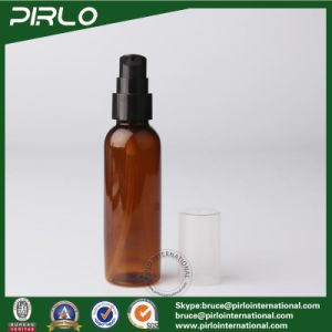 50ml Amber Color Plastic Facial Washer Skin Care Serum Bottle 1.7oz Pet Plastic Spray Bottle with Lotion Pump pictures & photos