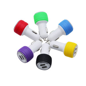 Tires Type Dual USB Car Charger, Car Plug in Charging with Dual Port for Mobile Phone pictures & photos