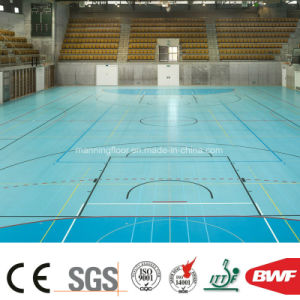 High Quality 8mm Indoor Lake Blue Multi-Function Vinyl Sports Floor pictures & photos