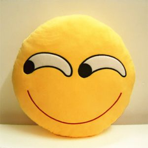 Cotton Stuffed 10inch Emoji Pillow Plush Toy pictures & photos