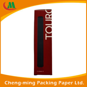 Attrative Design Black Paper Box for Headset Packaging with Plastic PVC Window Display pictures & photos