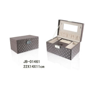 Handmade Brown PU Leather Gift Jewelry Box pictures & photos