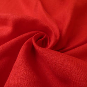 Shining Linen Look Polyester Rayon Blend Fabric pictures & photos