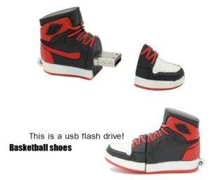 Sneakers Shoes Shape Customized USB Flash Drive Free Samples pictures & photos