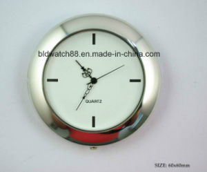 Cheap Mini Quartz Clock Inserts Silver Small Metal Clocks Gift pictures & photos