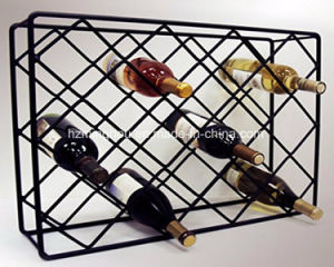Wire Rectangle 18 Bottle Metal Wine Display Rack for Bar pictures & photos