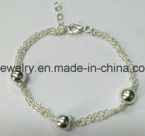 Custom 925 Sterling Silver Heart Bracelet pictures & photos