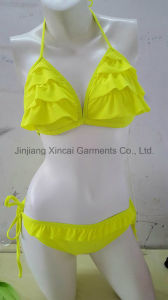 Frill 80%Nylon 20%Spandex Lady Sexy Bikini pictures & photos