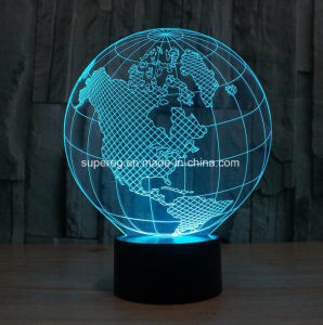 Wholesale 3D Lamp with Globe Shape Table Lamp LED pictures & photos