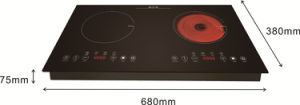 CB CE Approved Two Burners Built-in Induction mix Infrared Hob Sm-Dic12 pictures & photos